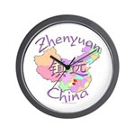 Zhenyuan China Map Wall Clock