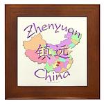 Zhenyuan China Map Framed Tile