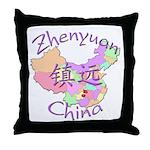 Zhenyuan China Map Throw Pillow
