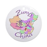 Zunyi China Map Ornament (Round)