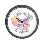 Zunyi China Map Wall Clock