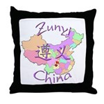 Zunyi China Map Throw Pillow