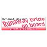 Runaway election Obama Bumper Sticker