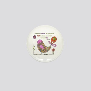 Langston Hughes Peacebird Mini Button