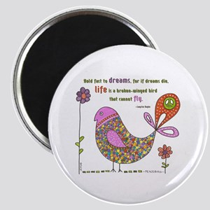 Langston Hughes Peacebird Magnet