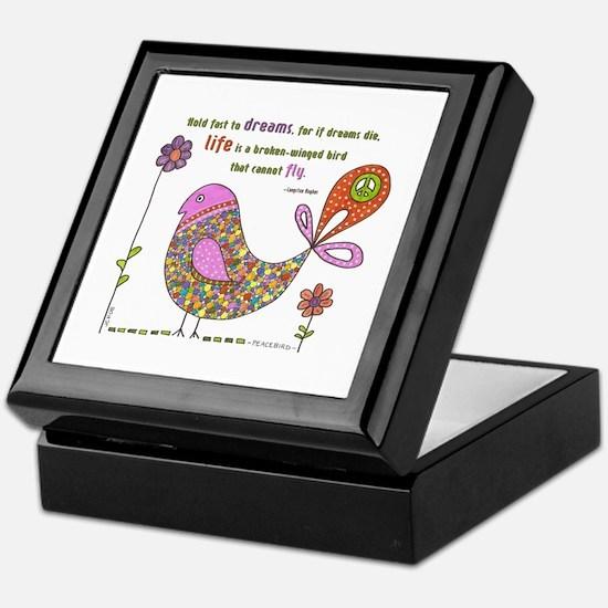 Langston Hughes Peacebird Keepsake Box
