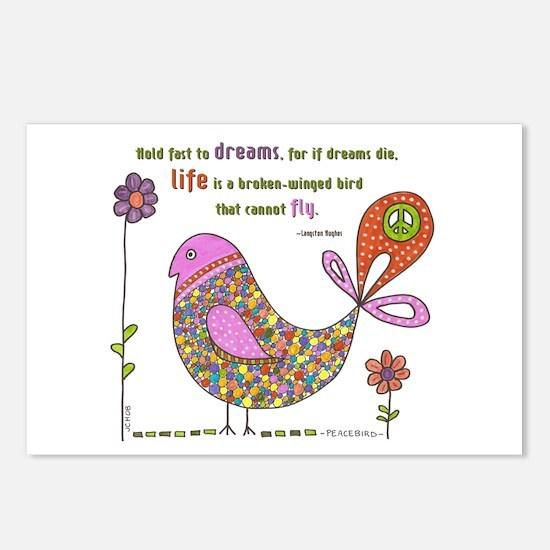 Langston Hughes Peacebird Postcards (Package of 8)