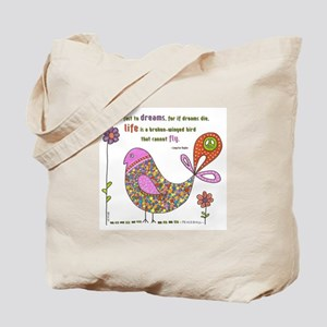 Langston Hughes Peacebird Tote Bag