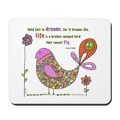 Langston Hughes Peacebird Mousepad