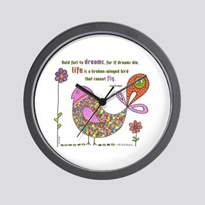 Langston Hughes Peacebird Wall Clock
