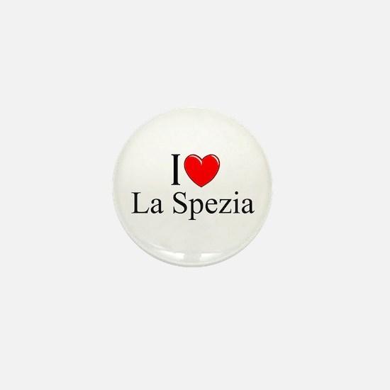 """""""I Love (Heart) La Spezia"""" Mini Button"""