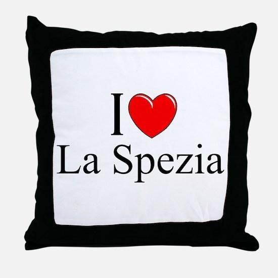 """I Love (Heart) La Spezia"" Throw Pillow"
