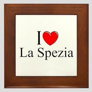 """""""I Love (Heart) La Spezia"""" Framed Tile"""
