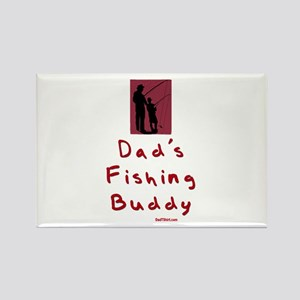 Dad's Fishing Buddy Rectangle Magnet