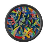 Leaves On Water Large Wall Clock