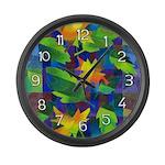 Leaf Mosaic Large Wall Clock