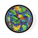 Leaf Mosaic Wall Clock