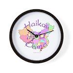 Haikou China Map Wall Clock