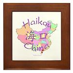 Haikou China Map Framed Tile