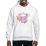 Haikou China Map Hooded Sweatshirt