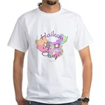 Haikou China Map White T-Shirt