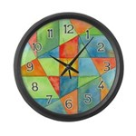 Color Square Abstract 1 Large Wall Clock