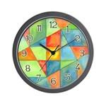 Color Square Abstract 1 Wall Clock