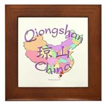 Qiongshan China Map Framed Tile