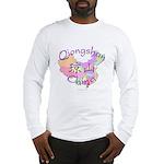 Qiongshan China Map Long Sleeve T-Shirt