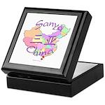 Sanya China Map Keepsake Box