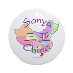 Sanya China Map Ornament (Round)