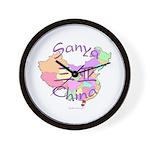 Sanya China Map Wall Clock