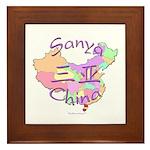 Sanya China Map Framed Tile