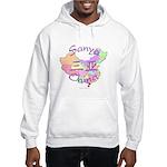 Sanya China Map Hooded Sweatshirt