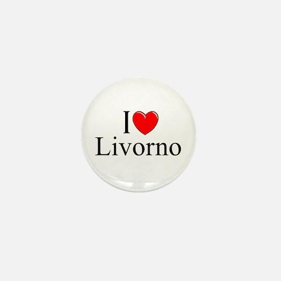 """""""I Love (Heart) Livorno"""" Mini Button"""