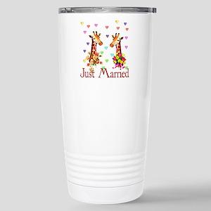 Wedding Giraffes Stainless Steel Travel Mug