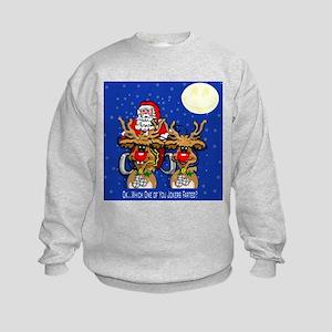 Reindeer Humor Kids Sweatshirt
