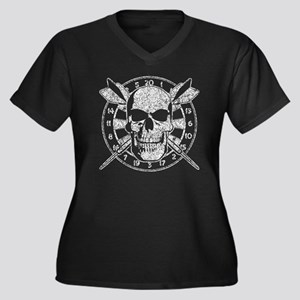 Skull and Darts Plus Size T-Shirt