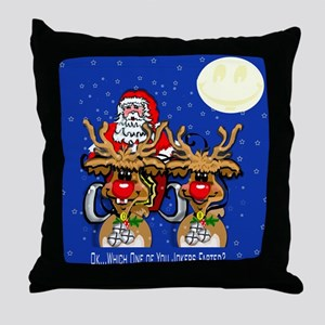 Reindeer Humor Throw Pillow