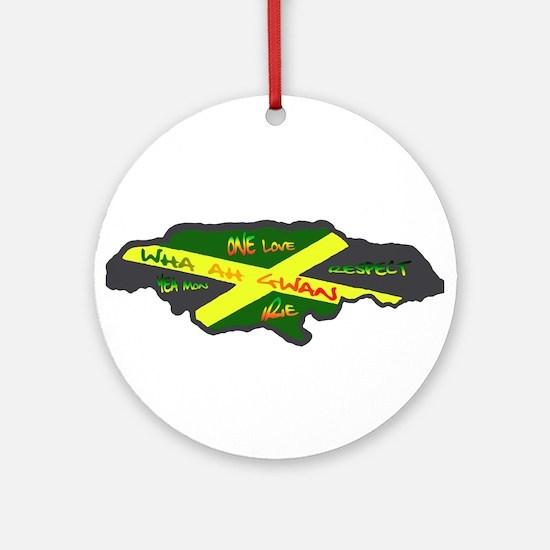 Jamaica Fag Ornament (Round)