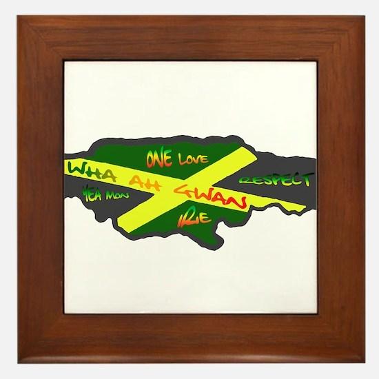 Jamaica Fag Framed Tile