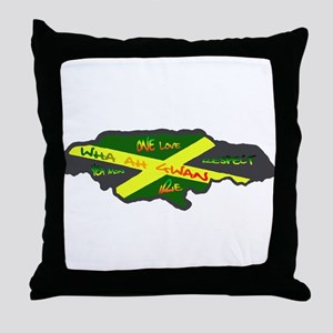 Jamaica Fag Throw Pillow