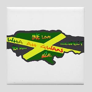 Jamaica Fag Tile Coaster