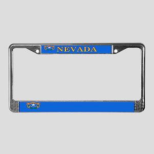 Nevada State Flag License Plate Frame