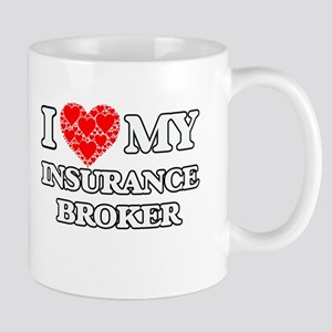 I Love my Insurance Broker Mugs