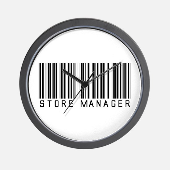 Store Manager Barcode Wall Clock