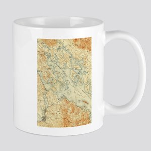 Vintage Map of Lake Winnipesaukee (1907) Mugs