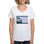 Hook Pain Women's V-Neck T-Shirt