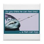 Hook Pain Tile Coaster