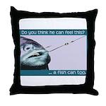 Hook Pain Throw Pillow